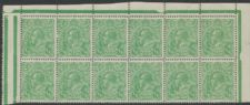 SG 20b ACSC 63(7)f. KGV Head ½d Green top right corner block of 12 from plate 6 (AHSMP/39)